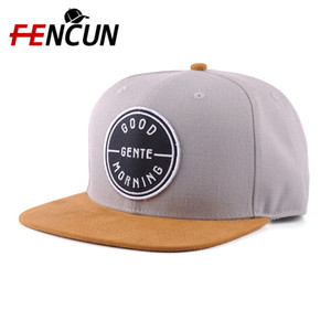 Supplier Wholesale Promotional Men Caps Sude Brim 6 Panel Snapback Hats With High Quality Embroidery Patch Personalized Snapback Cap Classic
