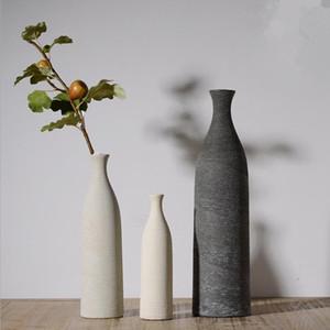 100% Nouvelle Marque CHinese Jingdezhen Porcelaine Vases Poterie modernes Créativité Grossier Vases en céramique pour mariage Décoration 7