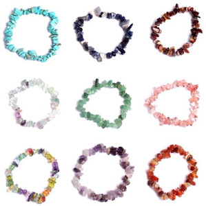 La guérison naturelle bracelet en cristal Sodalite Chip Gemstone 18cm Bracelet extensible naturelles Bracelets de pierre Bracelet pierres précieuses Mixte Chakra