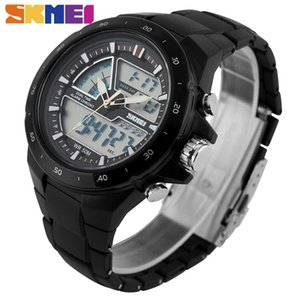 SKMEI Men Sports Watches Fashion Casual Men's Watch Digital Analog Alarm 30M Waterproof Military Multifunctional Wristwatches