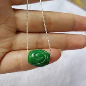 Gioielli Yu Xin Yuan nuovi arrivi Belle gambo verde giada Passepartout per le donne Collana Pendenti