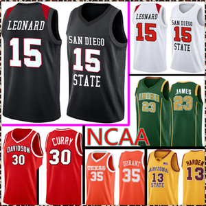 San Diego Staat Aztecs College Kawhi 15 Leonard Jersey NCAA 30 Curry 35 Durant 23 James Lebron Basketball Trikots 99 88 220