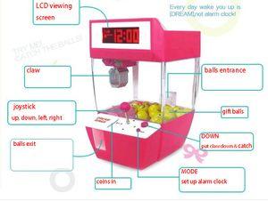 포수 알람 시계 동전은 게임 기계 크레인 기계 사탕 인형 그래버 발톱 아케이드 기계 자동 장난감 어린이 어린이를 운영