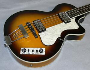 호프 너 현대 HCT 2분의 500 바이올린 클럽베이스 꿀 햇살 일렉트릭베이스 기타 30 인치 짧은 규모, 125 주년 기념 1950 새로운 도착