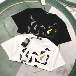 Nouvelle arrivée FEN luxe conception yeux Monster impression pleine shirt Équipage coton col shirt Homme Femme mode lâche respirant à manches courtes T-shirt