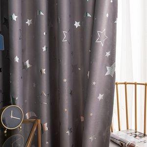 Shiny Stars Children Cloth Curtains For Kids Boy Girl Bedroom Living Room Blue/Pink Blackout Cortinas Custom Made Drape