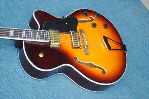 empuje caliente! Nueva requisitos particulares de la guitarra eléctrica, guitarra eléctrica del jazz, guitarra hueco del color del jazz, proporcionar personalización. envío gratis