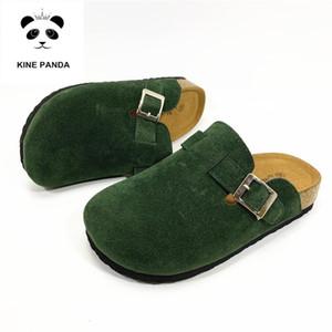 KINE PANDA Kids House Shoes девочки мальчики детские горки детские тапочки 1 3 4 5 7 9 лет ученик начальной школы пробковое дно
