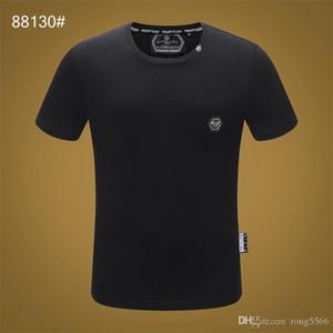 Erkekler Yaz yeni ürün T Gömlek Moda Kısa Kollu T-shirt Giyim Casual Kafatası Harf baskı Hip Hop yeni stil Adam tişört clothin # 44
