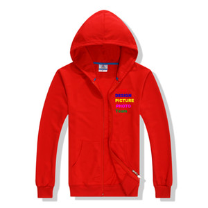 2019 High Quality french terry hoodies zip hoodie for spring light hoodies can be custom print or embroidiery