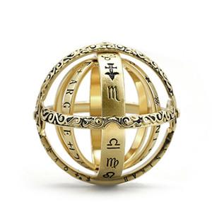 Esfera astronómica creativa anillos de la bola anillo de dedo cósmico complejo giratorio Clamshell joyería astronómica regalos nuevo