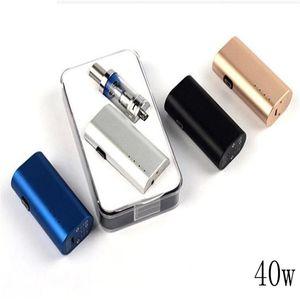 40w e vapor de caja de cigarrillos mod vaporizador cigarrillo electrónico e jugo vaporizador portátil mod dispositivo de ahumado en caliente recargable de vapor mod kit