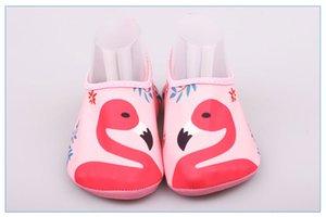 Flamingo Bebek Kız Yüzme Çorap Barefoot Aqua Ayakkabı Çocuk Su Sporları Sandalet Karikatür Sneakers Çocuk Plaj Sörf Terlik