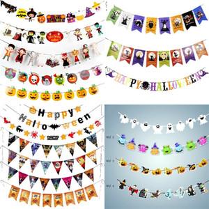 Halloween dekorieren pull flag papier qualität ziehen fahnen markt ktv kürbis geist teufel flagge ziehen mit verschiedenen stil 3 42pja j1