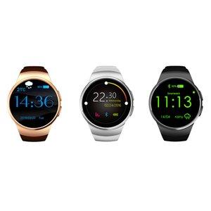 KW18 Akıllı izle tam ekran Yuvarlak Android / IOS Bluetooth Reloj İnteligente SIM kart nabız Monitörü izle saat Mic anti kayıp bilezik