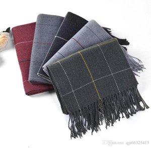 Autumn and winter 2019 thick Korean plaid cashmere scarf warm two-sided versatile scarf plaid shawl dual purpose China wholesale free delive