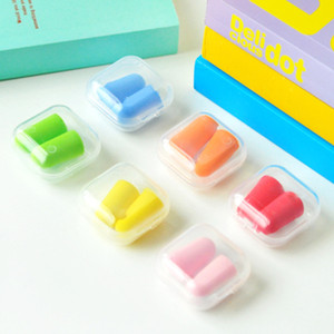 Dropshipping Foam Sponge Earplugs 여행을위한 위대한 소음 총알 모양을 줄이기 수면 무작위 색깔 선물 100 쌍