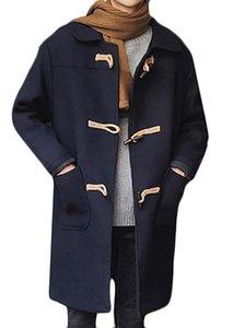 ARRIVE GUIDE Mens Stylish Lapel Pocket Toggle Coat Pea Coat Jacket Outwear