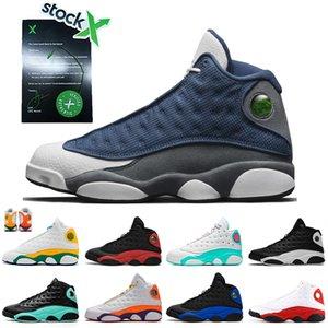 Nike Air Jordan Retro 13 13s Chaussures de basketball de qualité supérieure Clot Sepia Stone Lakers Casquette et robe de silex Atmosphere Grey Mens Trainers Sport Sneakers