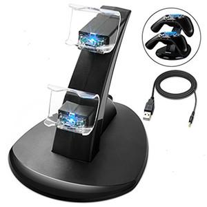 LED Dual Charger Dock крепление USB Подставка для зарядки для PlayStation 4 PS4 Xbox One Gaming беспроводной контроллер с розничным Box Free
