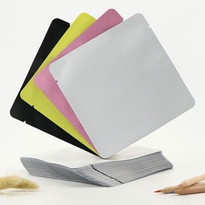 Open Top mate del papel de aluminio bolsa de la esquina redonda del sello de vacío de calor bolsas de Mylar polvo de la máscara bolsa de 15cmx15cm LZ1437