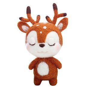 2019 Fashion Custom Dog Doll Wool Felt Craft DIY Non Finished Poked Set Handcraft Kit Needle Material Bag Pack Christmas Gift