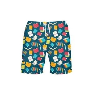 2020 Prints Beach Shorts Men Quick Dry Running Shorts Swimwear Swimsuit Swim Trunks Beachwear Sports Pants Board Short Plus Size