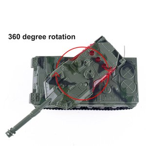 Hohe Simulation Elektrische RC Panzer 4 Kanäle Fernbedienung Battle Tanks Modell Spielzeug für Jungen-Kind-Weihnachtsgeschenk