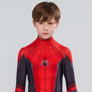 Дети Человек-паук Far From Home Питер Паркер Косплей Zentai Человек-паук Superhero Bodysuit костюм Комбинезоны Halloween CostumeMX190921