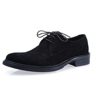 Scarpe in pelle di vacchetta in pelle di pizzo a punta rotonda scarpe da uomo traspirante in pelle da uomo in pelle da uomo Abbigliamento da uomo Derby scarpe da lavoro