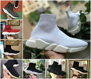 2020 New Paris velocidade Trainers Knit Sock sapatos de luxo Designer Original Mens Womens Sneakers Cheap alta qualidade superior 17 FW calçados casuais