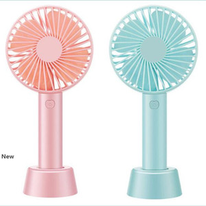 Bracket Handheld Fan 3 Speed Adjustable Cooling Fan Portable Mini USB Rechargeable Fans Party Favor OOA8114