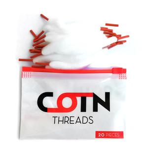 COTN FILETS Vape coton orange dentelle double bobine de fil à tête Cotons halls bandes Lacet pour RTA RDA RBA Atomiseur réservoir