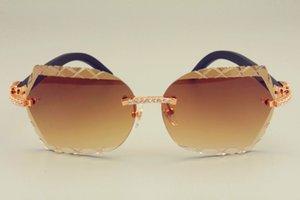 الجملة-- شحن مجاني dhl حار بيع عدسة النظارات الشمسية 8300593-A الخشب الأسود نظارات للغاية ، الماس الفاخرة للجنسين ظلة مرآة ،