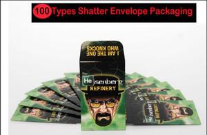 100 TIPOS Shatter Envelope Embalagem Assorted Strain Slim Shatter Packs Cera Concentrado Empacotamento Cartão SD Embalagem de Moeda Personalizada