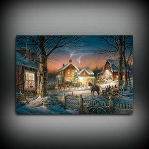 HD Stampato Terry Redlin Pittura ad olio Decorazione della casa Arte della parete su tela Tagliare l'albero senza cornice