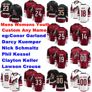 Mens Custom Arizona Coyotes Jerseys Barrett Hayton Jersey Vinnie Hinostroza Brad Richardson Soderberg Derek Stepan Hockey Jerseys Stitched
