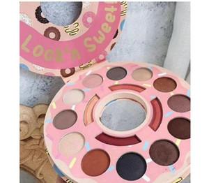 2018 최신 도넛 가게 아이 섀도우 팔레트 아이 섀도우 하이라이트 팔레트 look'n sweet 16 colors 하이 라이터 블러쉬