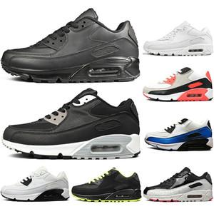 Nike air max 90 Calcetines gratis NUEVO clásico de moda Hombres mujeres Zapatos para correr Negro Rojo Blanco para hombre Entrenadores Cojín Superficie Zapatillas deportivas trans
