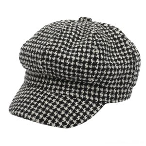 Octagonal Hats Charming Women men Winter Warm Newsboy Cap Mens Ivy Hat Golf Hats & Caps Hats, Scarves & Gloves Driving Flat Tweed Cabbie Ber