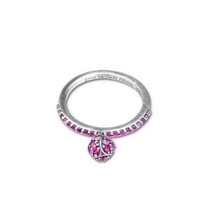 kiraz kristal yüzük gümüş moda Avrupa Pandora yüzük kolye kolye takı 58cm ile 925 ayar gümüş çiçek tomurcuğu gümüş yüzük
