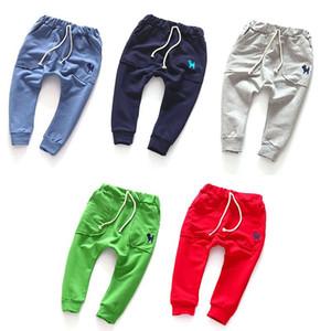 Calças Baby crianças Calças para um menino Crianças Sprots Calças Slacks Sweatpants de fundo para meninos quentes