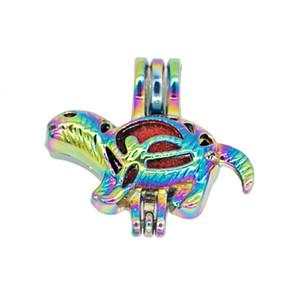 REYOW 5pcs Multicolor Dinosaurier-Perlen-Korn-Cages Perfume Ätherisches Öl Diffuser-hängende Schmucksachen, die DIY