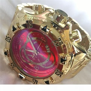 High quality Swiss INVICTA Very large rotating dial super quality Men's watch Tungsten steel Multifunction Gold quartz watch