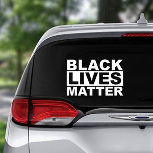 I CAN'T BREATHE Sticker Black Lives Matter Parade PVC Stickers Creative Self-adhesive Stickers For Car Glass Window Party Favor RRA3145