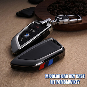 Cas de clé de voiture de couleur M FOB Shell Cover Fit pour BMW Série 5 528li 530li X1 X5 X6