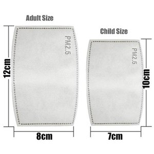 Las gotas anti-polvo reemplazable Máscara de filtro de inserción para la máscara de papel Haze Boca PM 2.5 Filtros de atención médica para niños adultos