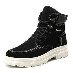 Новая мода удобные мужчины сапоги zapato вскользь зимние кружева-up теплый ботильоны мужчины туфли-Botas новый стиль открытый прогулки мужская опорные башмаки 6