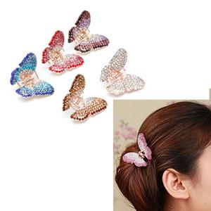 Elegantes Frauen-Mädchen-Schmetterlings-Greifer-Kristallrhinestone-Haarspange-Klammer-Haarnadel-Kiefer