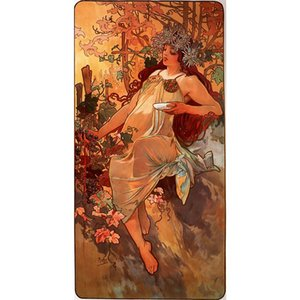 Alphonse Mucha oil painting Autumn hand painted modern artwork figure paintings for wall decor